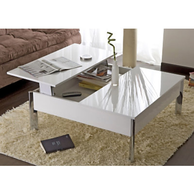 Mobilier table table basse escamotable ikea for Table escamotable
