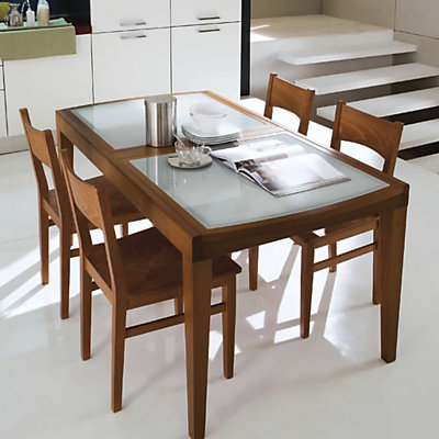 Table contemporaine merisier for Table contemporaine
