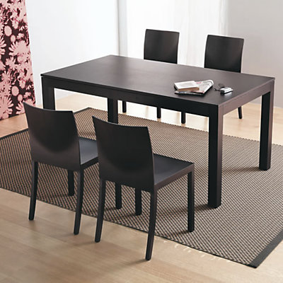Table a manger wenge for Table sejour avec rallonge