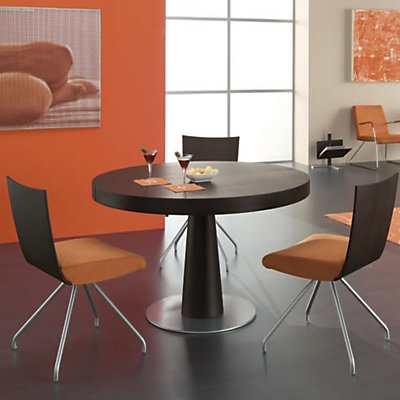 table ronde moderne pied central table verre et bois salle manger ronde en pied central repas. Black Bedroom Furniture Sets. Home Design Ideas