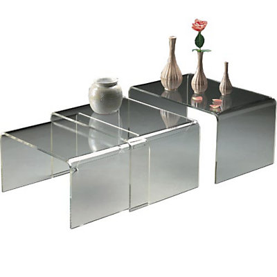 table gigogne plexiglas tous les objets de d coration sur elle maison. Black Bedroom Furniture Sets. Home Design Ideas