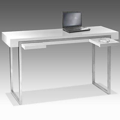 Bureau console plexiglass for Console meuble pas cher design