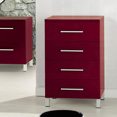 meuble tele rouge laque maison design. Black Bedroom Furniture Sets. Home Design Ideas
